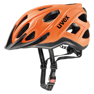 Helm Uvex CITY S Neon Orange-Schwarz Mat, Uvex