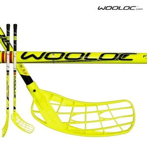 Floorball Stock WOOLOC FORCE 3.2 yellow 75 ROUND NB '14, Wooloc