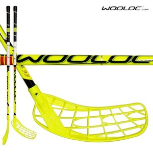 Floorball Stock WOOLOC FORCE 3.2 yellow 96 ROUND NB '14, Wooloc