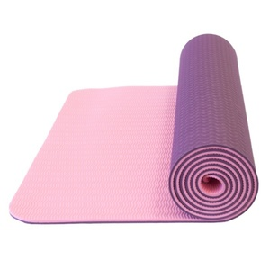 Unterlage  Yoga Yate YOGA MAT Double-Layer- dark  lila / pink, Yate