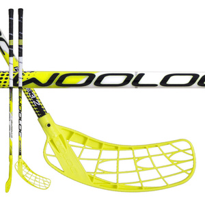 Floorball Stock WOOLOC FORCE 3.2 yellow 96 ROUND NB, Wooloc