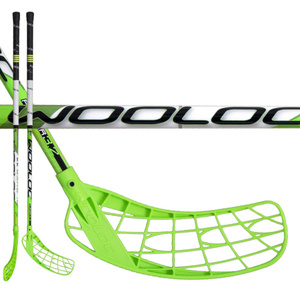 Floorball Stock WOOLOC PLAYER 3.2 green 96 ROUND, Wooloc