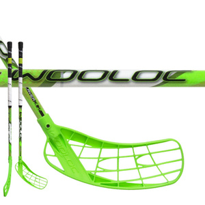 Floorball Stock WOOLOC PLAYER 3.2 green 75 ROUND NB, Wooloc