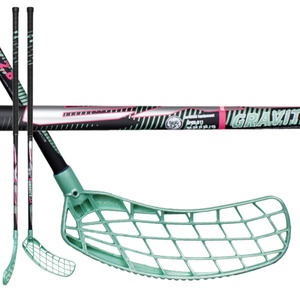 Floorball Stock EXEL GRAVITY 2.9 schwarz / mint 98 ROUND SB, Exel