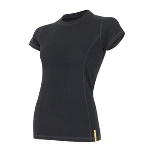 Damen T-Shirt Sensor Double Face Merino Wool black 15100017, Sensor