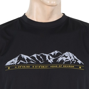 Herren T-Shirt Sensor PT Coolmax Fresh Mountains black 16100001, Sensor