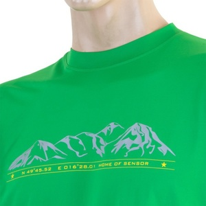 Herren T-Shirt Sensor PT Coolmax Fresh Mountains green 16100002, Sensor