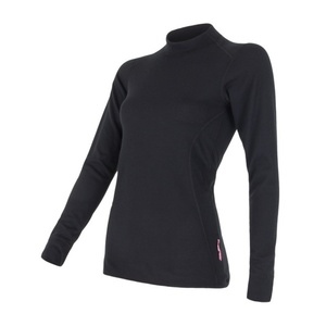 Damen T-Shirt Sensor Double Face Langärmel black 12110010
